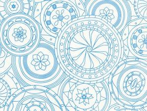 Diseño azul de seda